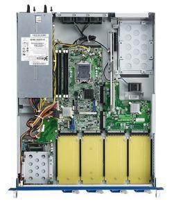 Plateforme PC pour application réseau, Haswell WS/Denlow,C226,4 Handle NMCs,PSU(1+1),1U