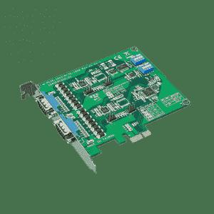 Carte PCIex1, 2-ports RS-232/422/485, protection surtension 1000V