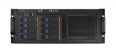 Châssis serveur industriel, 4U MB Châssis serveur industriel w/8 SAS Trays w/1200W RPS w/o MB