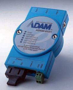 Switch Rail DIN industriel ADAM 5 ports 10/100Mbps + 1 Fibre MM