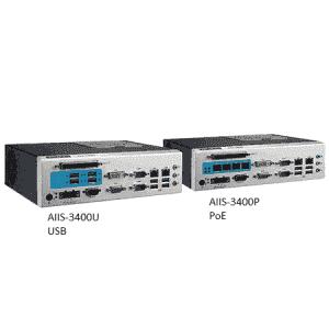 AIIS-3400U-00A1E PC industriel pour application de vision, H110, DDR4, 4+4 USB3.0, 2 LAN, 2 COM, 8 bits DIO