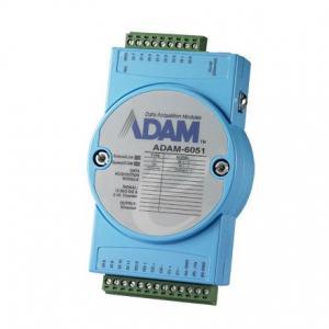 ADAM-6051-CE Module ADAM Entrée/Sortie sur Ethernet Modbus TCP, 16-Ch Isolated DI/O w/Counter Module