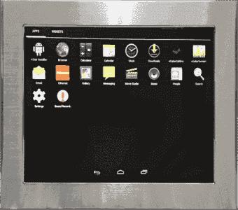 IHM fanless tactile résistif étanche IP65 6 faces pour Android et Linux