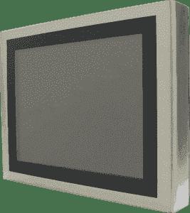 Panel PC Haute luminosité tactile résistif ultra plat en coffret INOX IP65 sur les 6 faces, processeur QuadCore Intel J1900