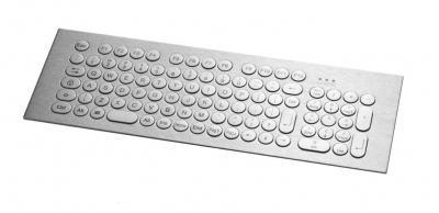 Clavier inox avec pavé numérique (98 touches rondes ø17) montage par l'avant