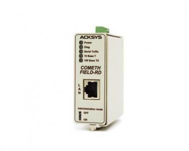 Passerelle série monovoie RS232/RS422/RS485 vers Ethernet TCP/IP, format Rail DIN