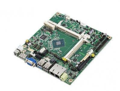 Carte mère industrielle, ATOM Baytrail QC2.0G MINI-ITX w/VGA,LVDS,DP,2GbE