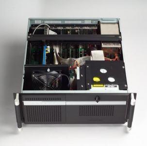 """ACP-4320BP-00BE Châssis silencieux 4U pour PC rack 19"""" PICMG1.0 et 1.3 et 2 disques extractibles"""