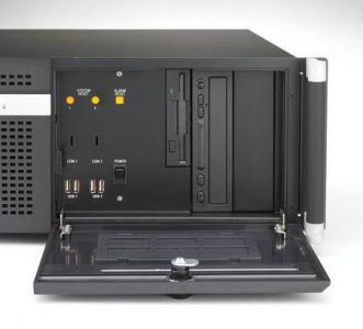 """Châssis silencieux 4U industriel pour PC rack 19"""" PICMG1.0 et 1.3"""