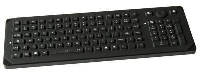 Clavier industriel compact 105 touches avec clavier numérique et souris à poser sur table IP65 AZERTY