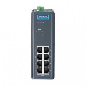 Switch Rail DIN industriel 8 ports 10/100Mbps dont 4 ports POE -40°C +75°C