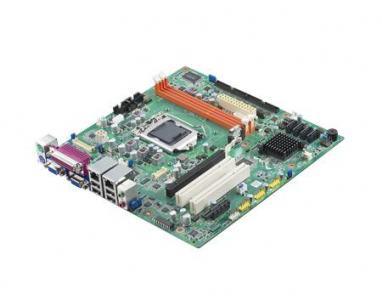 AIMB-501VG-KSA1E Carte mère industrielle, MicroATX with VGA/(DVI)/10COM/10USB/1 LAN/NO PCI