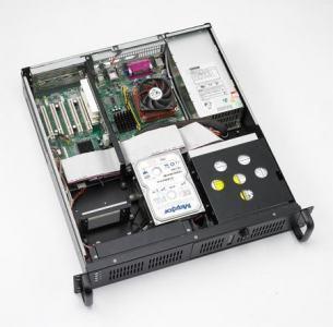 """Châssis 2U pour PC rack 19"""", avec 2 baies SAS/SATA et alimentation FATX 250W"""