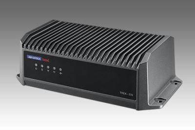 Terminal industriel mobile pour véhicule, TREK-570 Intel E3826 w/HSPA, GPS, Wlan/BT WES7