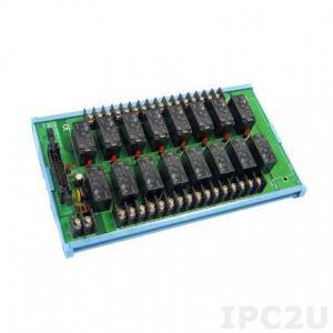 Bornier ADAM pour carte d'acquisition de données, 20-pin Flat Câble Wiring Relay Board