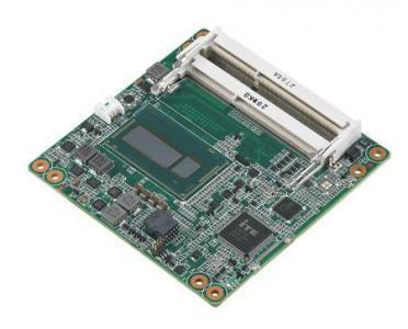 Carte industrielle COM Express Compact pour informatique embarquée, Celeron 2980U 1.6G 15W 2C COMe Compact non-ECC
