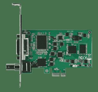Carte industrielle d'acquisition vidéo, 1ch HDV/SDI/CVBS/YPrPr/S-video PCIe HW CARTE