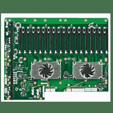 Fond de panier backplane PCI/PCIE, 19 Slot PICMG1.3 BP, 17 PCIe x16, 1 PCIe x4