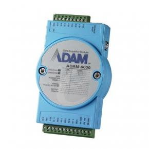 ADAM-6050-CE Module ADAM Entrée/Sortie sur Ethernet Modbus TCP, 18 E/S TOR