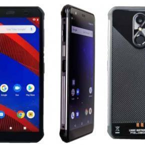 """F57 Smartphone durci étanche 5.7"""" Android avec lecteur de code barre WiFi, BT, NFC, GPS, 4G"""