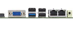 AIMB-215U-S6A1E Carte mère industrielle, ATOM Baytrail QC1.58G MINI-ITX. VGA,LVDS,DP,2GbE