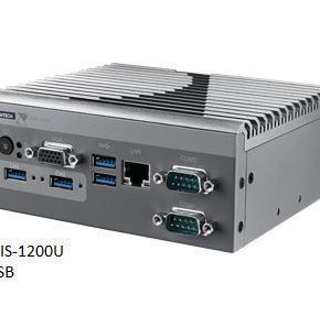 AIIS-1200P-S6A1E PC industriel pour application de vision, N3160 1.6G, 2 PoE, 1 LAN, 4 USB3.0, 2 COM, DIO
