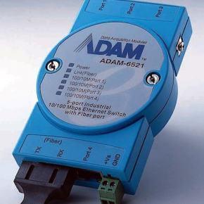 ADAM-6521/ST-AE Switch Rail DIN industriel ADAM 5 ports 10/100Mbps + 1 Fibre MM