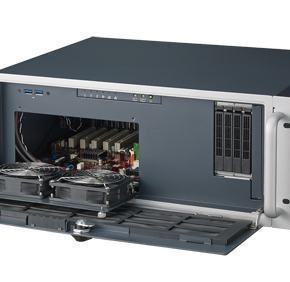 """ACP-4020BP-40ZE Châssis 4U 400W pour PC rack 19"""" PICMG demi longueur profondeur 398mm seulement"""