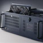 """Châssis silencieux 4U pour PC rack 19"""" à carte mère ATX/MATX"""