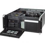 """Châssis silencieux 4U pour PC rack 19"""" PICMG1.0 et 1.3 et 2 disques extractibles"""