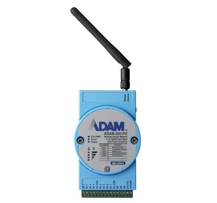 ADAM-2051PZ-AE Module ADAM ZigBee, 8-ch Digital Input Node with Power Amplifier