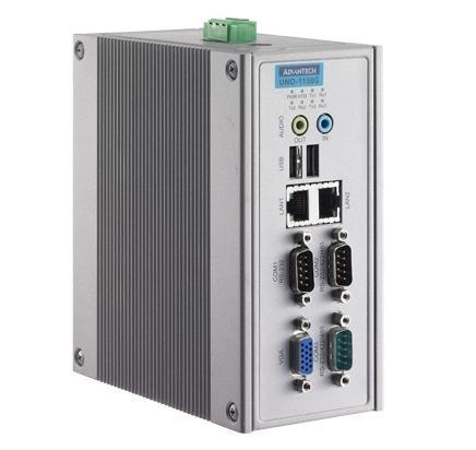 PC industriel fanless à processeur LX800, 500MHz, 256MB DDRRAM, 2xEthernet, 3xCOM