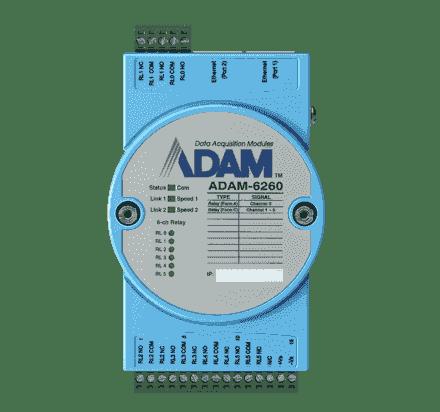 ADAM-6260-AE Module ADAM Entrée/Sortie sur MobusTCP, 6-ch Relay Output