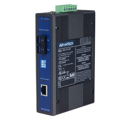 EKI-2541SI-AE Switch industriel, Ethernet to SM fiber media converter (Wide Temp)