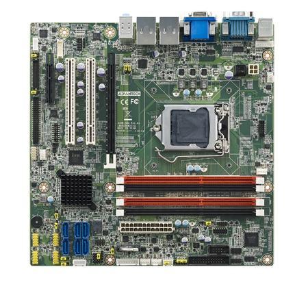 AIMB-584WG2-00A1E Carte mère industrielle, C2D LGA775 mATX FSB1066 VGA/ GbE/10COM w/o LVDS
