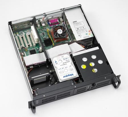 ACP-2010MB-35CE Châssis PC Rack industriel 2U à carte mère ATX/MATX avec alimentation 350W
