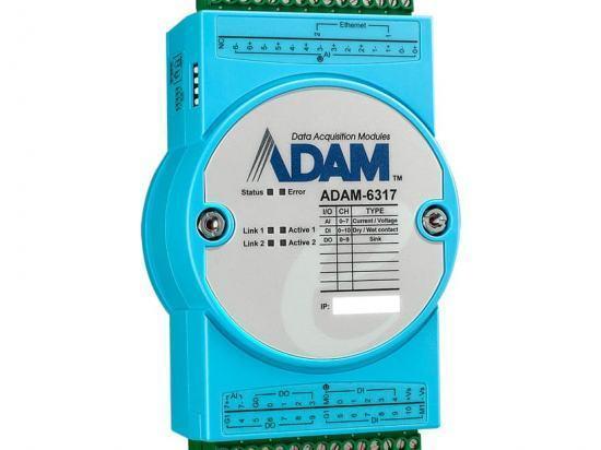 ADAM-6317-A1 Module ADAM Ethernet compatible OPC-UA avec 8 entrées anaologique, 11 entrées digitales et 10 sorties digitales