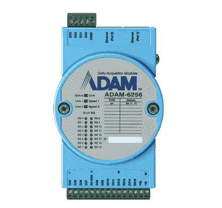 ADAM-6256-AE Module ADAM Entrée/Sortie sur MobusTCP, 16-ch Isolated Digital Output