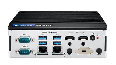 ARK-1220L-S6A1E PC Fanless 2xLAN 4K Processeur ATOM et Rail-Din