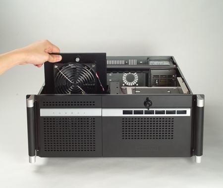 """ACP-4360MB-00XBE Châssis 4U pour PC rack 19"""" avec carte mère ATX/MATX et 6 disques extractibles"""