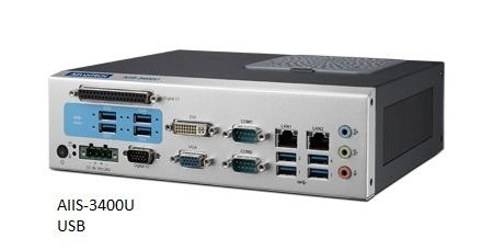 AIIS-3400P-00A1E PC industriel pour application de vision, H110, DDR4, 4 PoE, 2 LAN, 4 USB3.0, 8 bits DIO