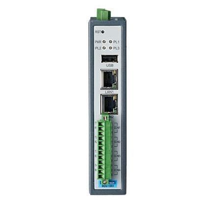 ECU-1251-R10AAE Passerelle IoT avec 2XLAN, 4 ports COM Ethernet et sans fil