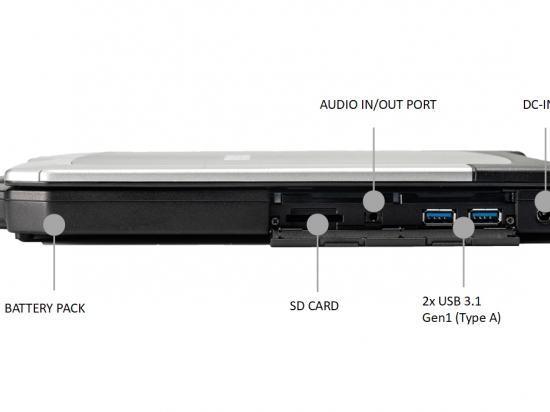 """S15AB2 PC Portable semi-durci 15"""" Durabook avec port série RS232"""
