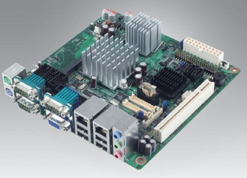 AIMB-210G2-S6B1E Carte mère industrielle, ATOM1.6G.MINI-ITX.FSB533.VGA.LVDS.2LAN.6COM,RevB