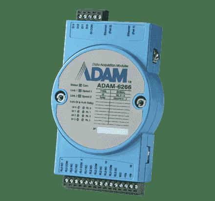 ADAM-6266-AE Module ADAM Entrée/Sortie sur MobusTCP, 4-ch Relay Output with 4-ch DI