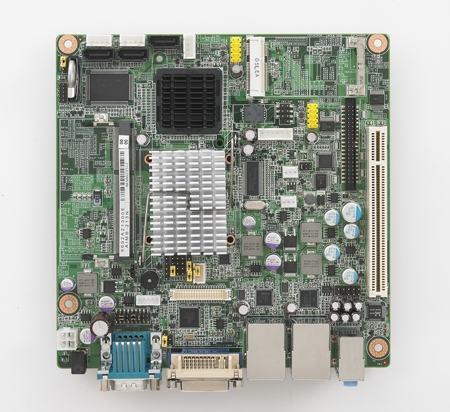 AIMB-213D-S6A1E Carte mère industrielle, ATOM D525 1.8G MINI ITX w/VGA,LVDS,2GbE,6COM