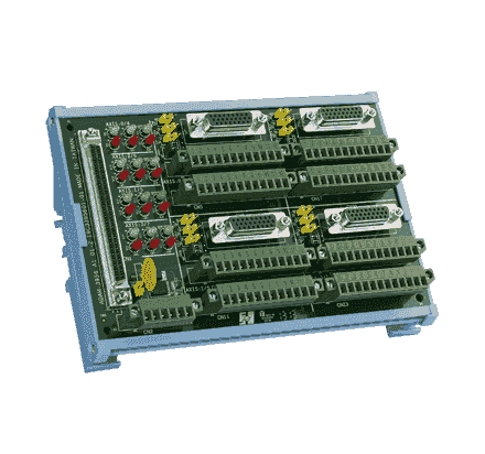 ADAM-3956-AE Bornier ADAM pour carte d'acquisition de données, 4-Axis 100-pin SCSI DIN-rail motion wiring board