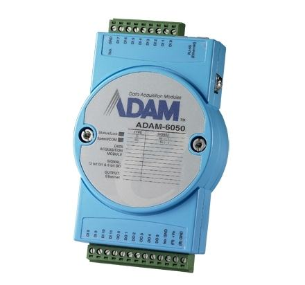 ADAM-6050-D Module ADAM Entrée/Sortie sur Ethernet Modbus TCP, MQTT et SNMP, 18 voies isolées DI/DO