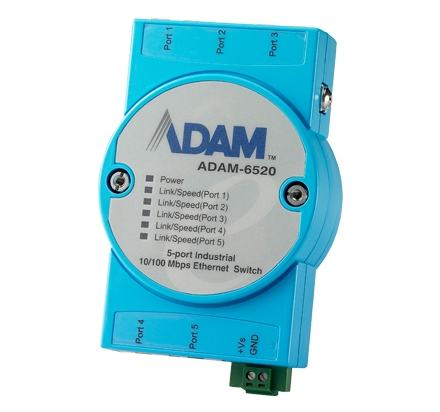 ADAM-6520-BE Switch Rail DIN ADAM industriel 5 ports 10/100 Mbps