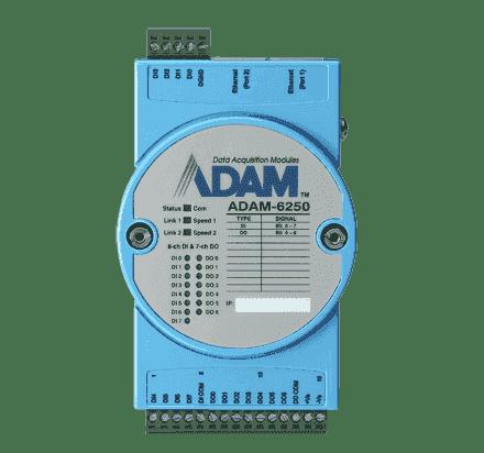 ADAM-6250-AE Module ADAM Entrée/Sortie sur MobusTCP, 15-ch Isolated Digital I/O